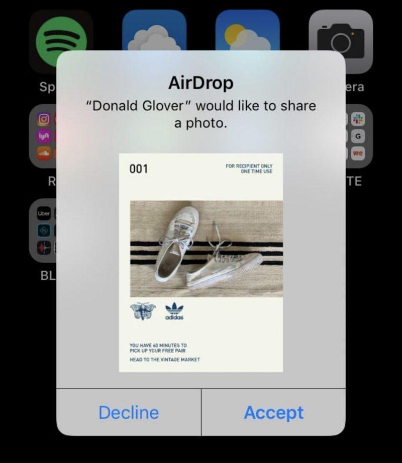 Adidas x Donald Glover Airdrop